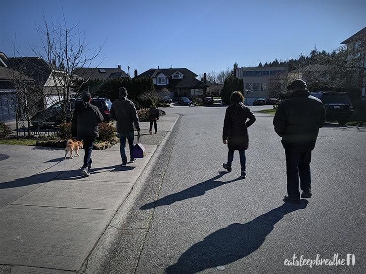 physical distancing neighbourhood walks